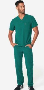 079d27ac328 Two functional double chest pockets and a modern V-neck make this scrub  both stylish and comfortable. A ridiculously soft fabric and four-way  stretch with ...